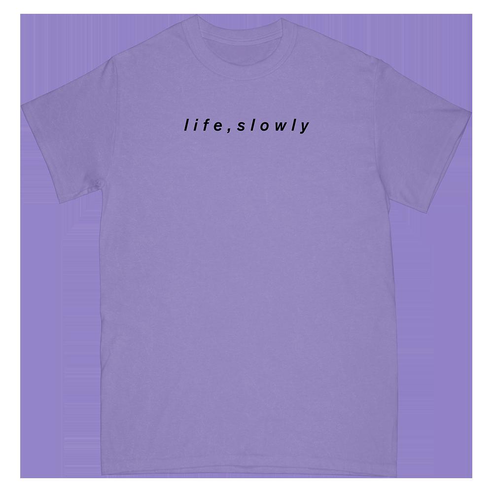 Life Slowly Tee (Purple)