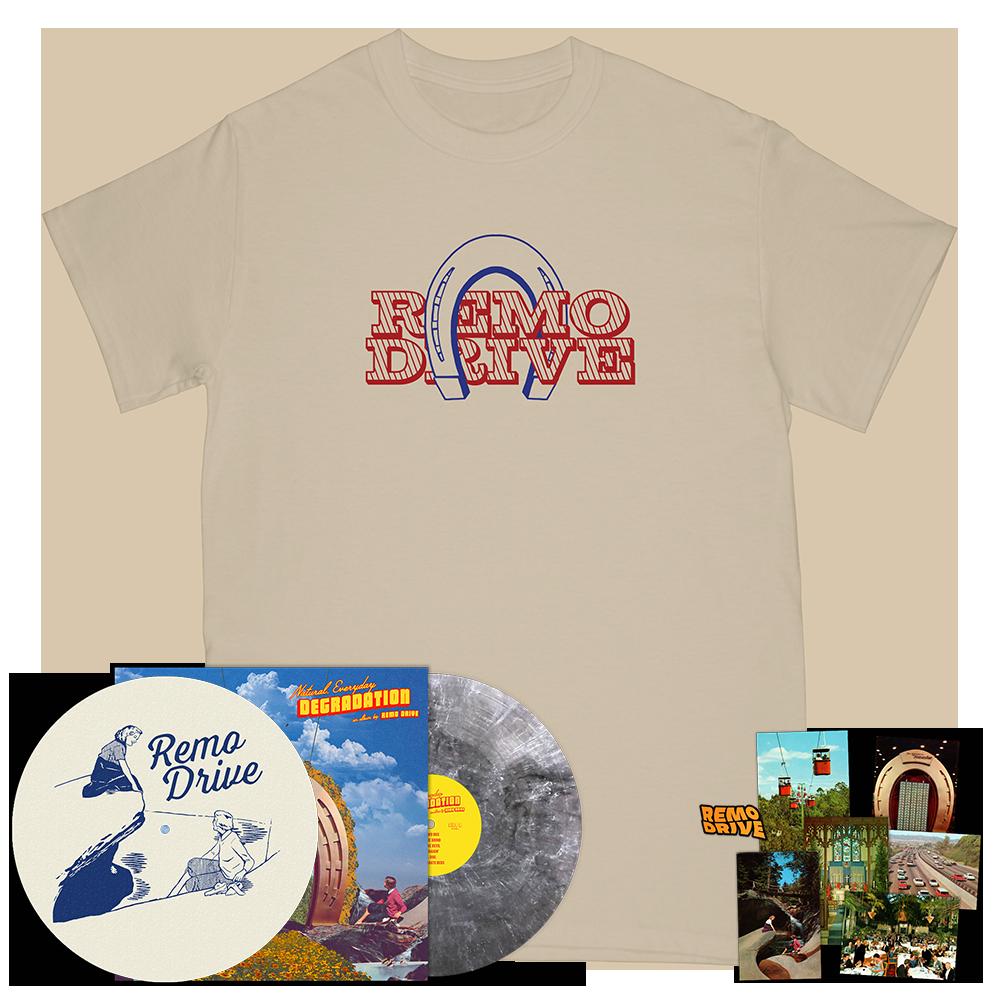 Horseshoe Tee + Vinyl + Slip Mat + Pin + Postcards Deluxe Bundle