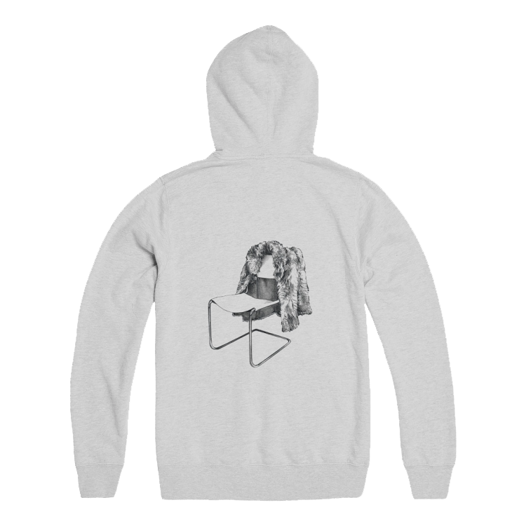 Grey Hoodie with Chair