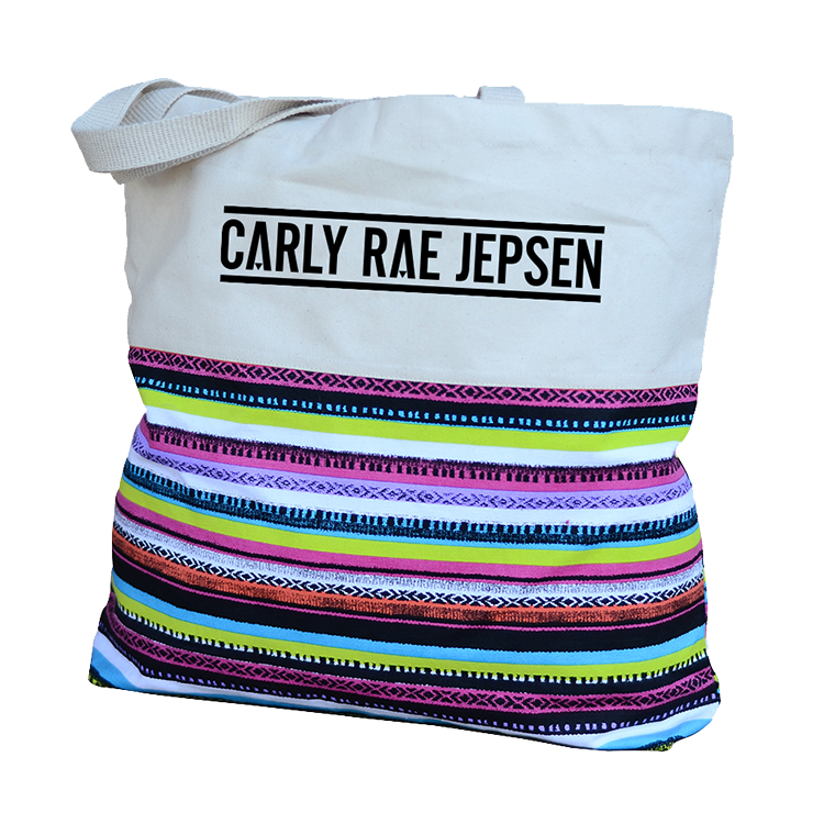 Rainbow Striped Tote Bag