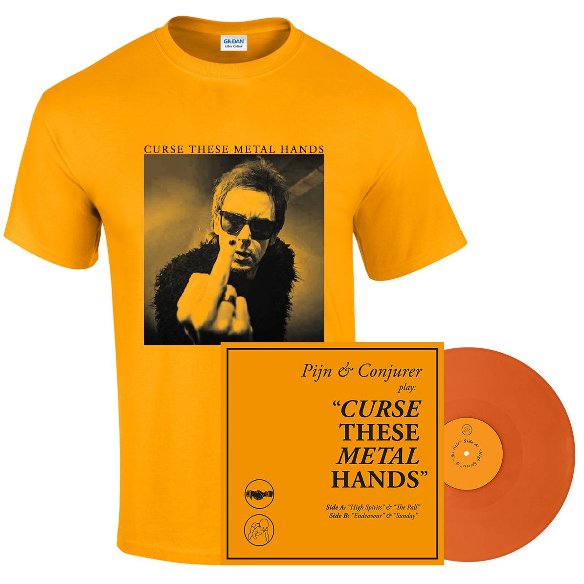 Pijn & Conjurer - Curse These Metal Hands shirt + LP PREORDER