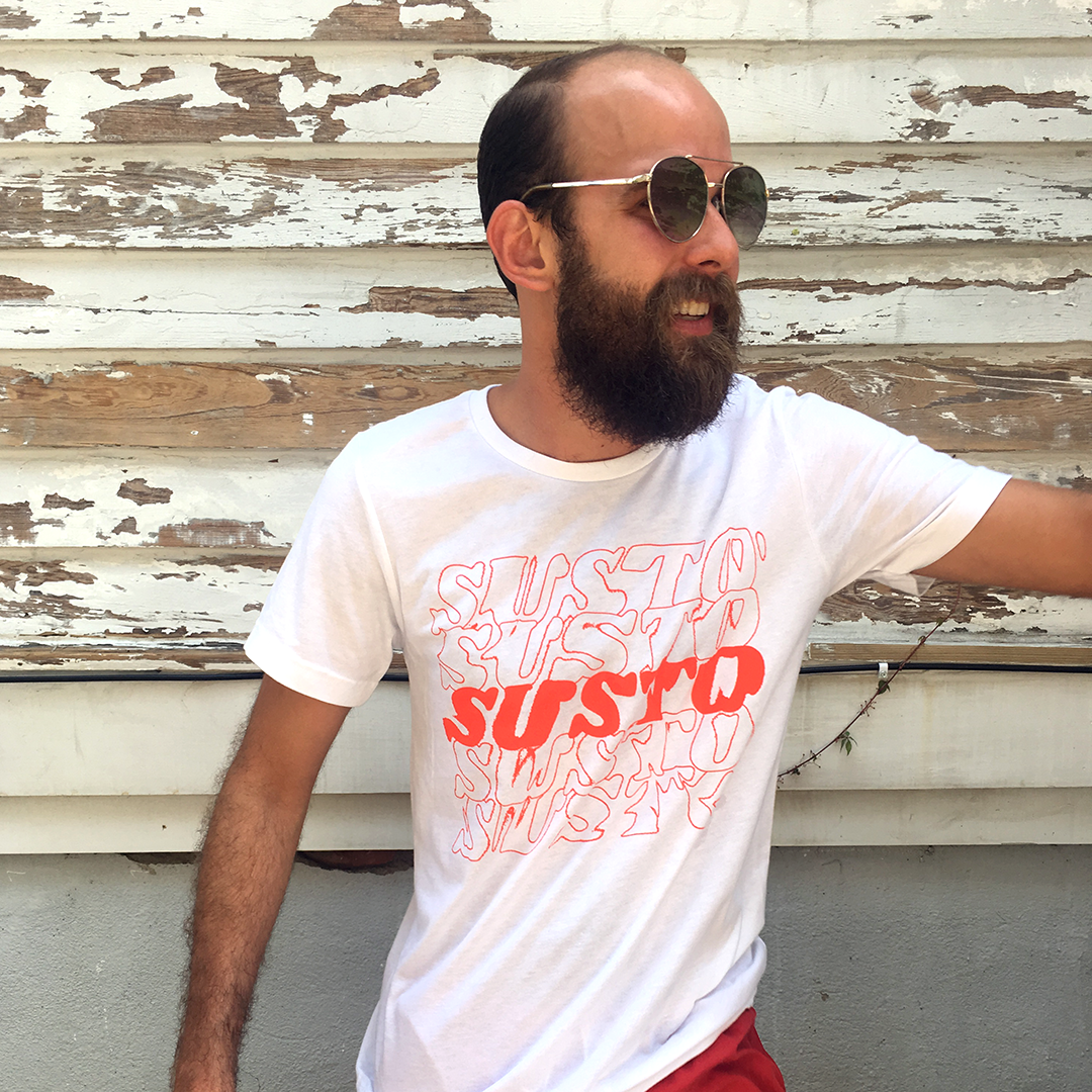 SUSTO Stacked Red Tee