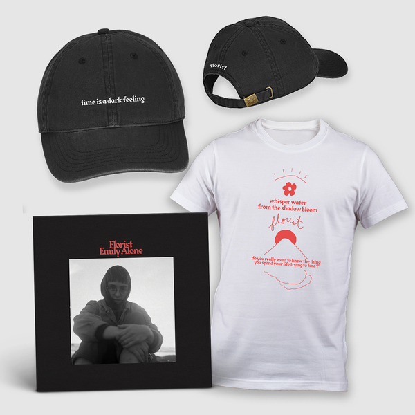 Florist Emily Alone Vinyl + T-Shirt + Hat Bundle