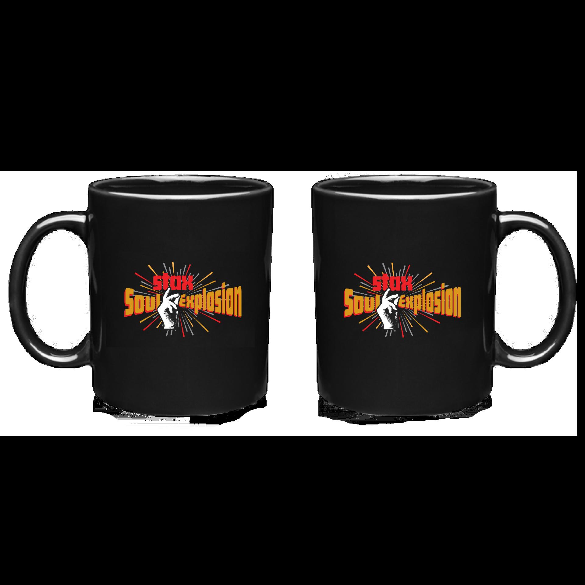 Soul Explosion 11 oz. Black Ceramic Coffee Mug