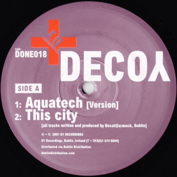 Decoy ‎– This City Has Lost Its Way (D1 Recordings )