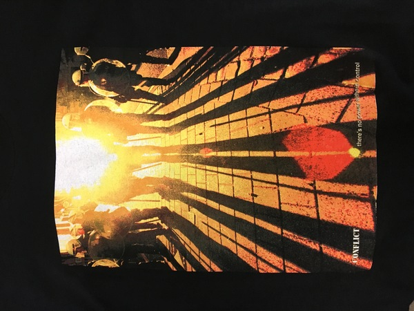 Conflict sunset shirt