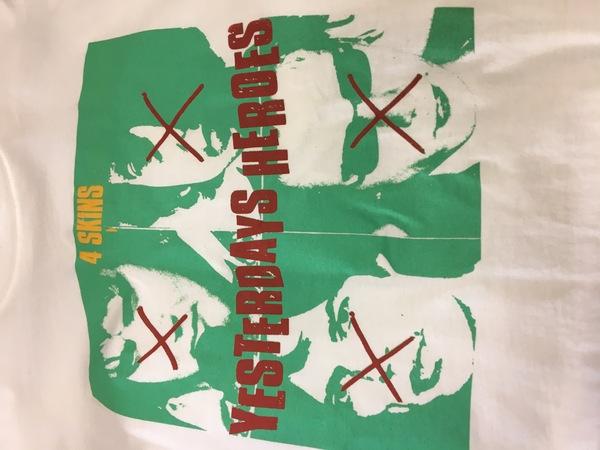 4-skins yesterday's heroes shirt