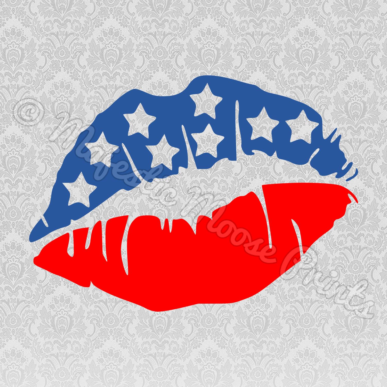 American Lips SVG