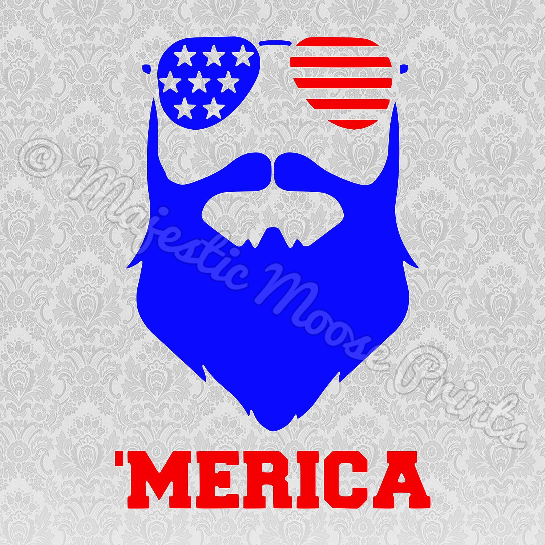 Merica Beard SVG