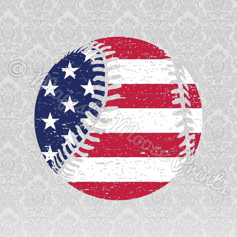 Baseball Grunge American Flag SVG
