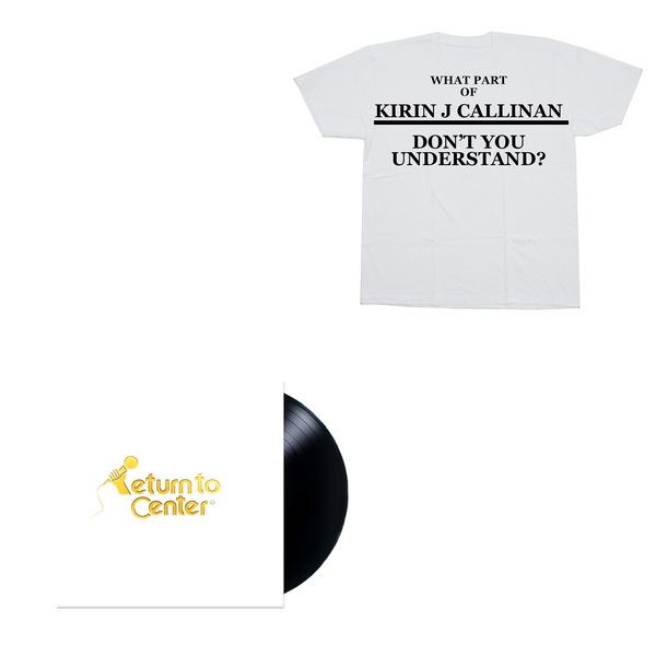 "Kirin J Callinan ""Return To Center"" Vinyl + Shirt Bundle"