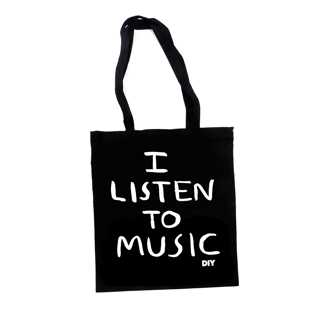 I Listen To Music Tote Bags