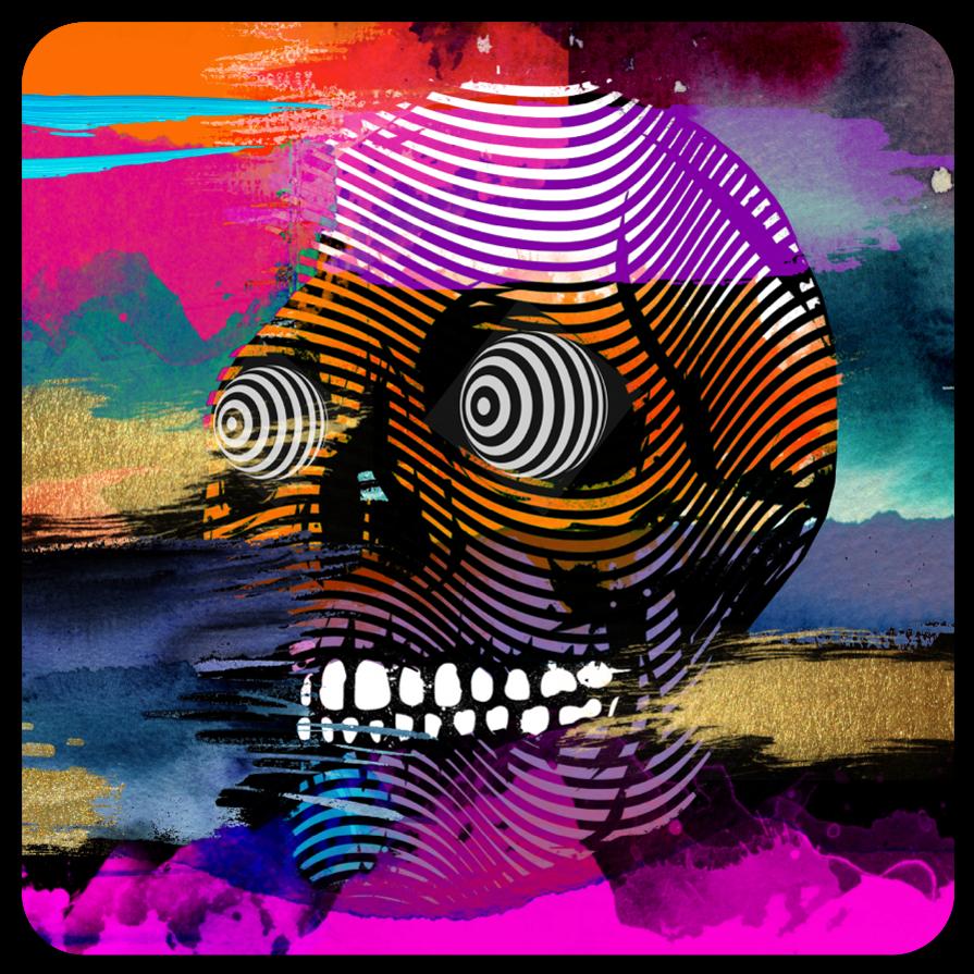 3 inch Skull Art Stickers