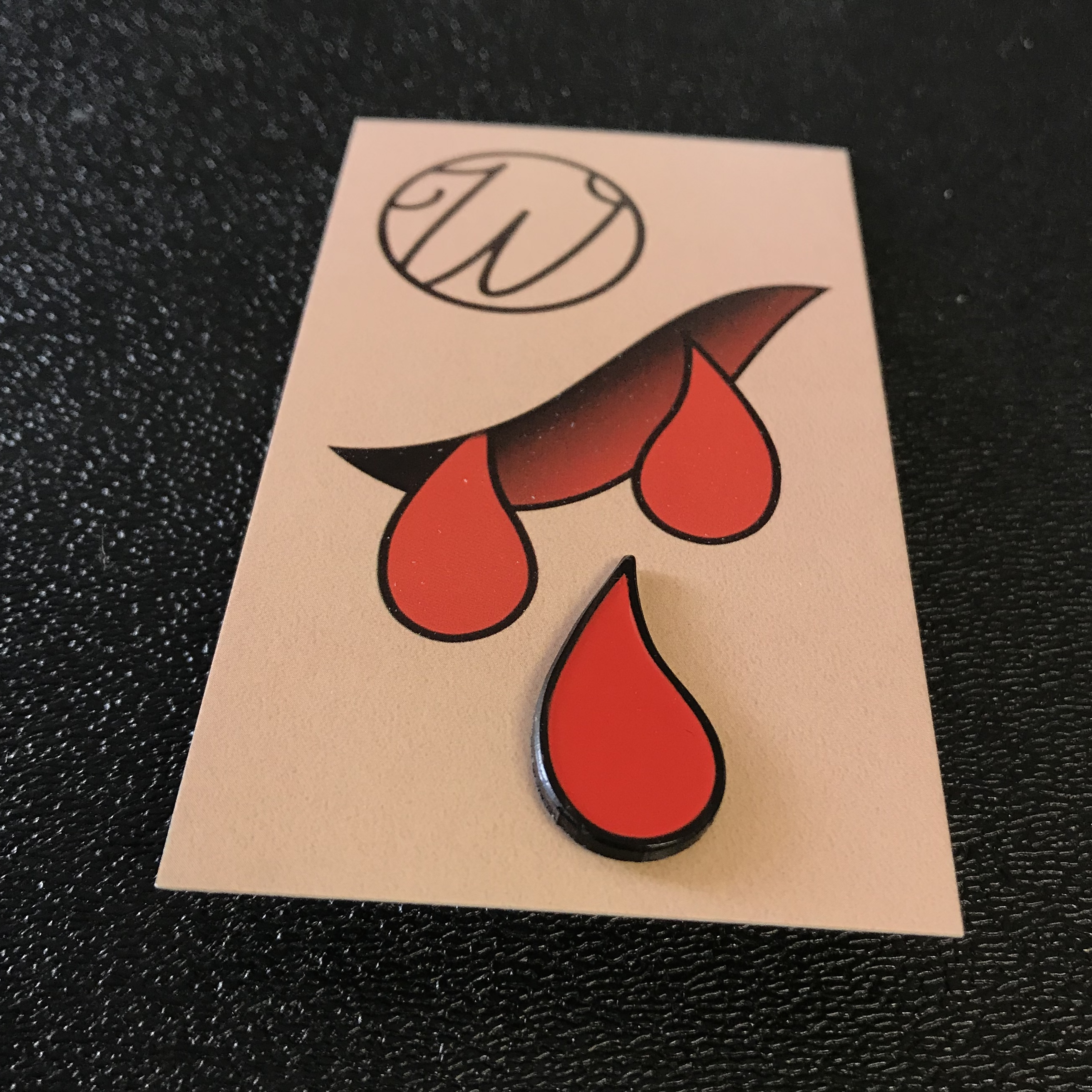 Wunderland Tattoo Blood Drip enamel Pins
