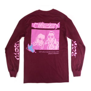 Burgundy Long Sleeve T-Shirts