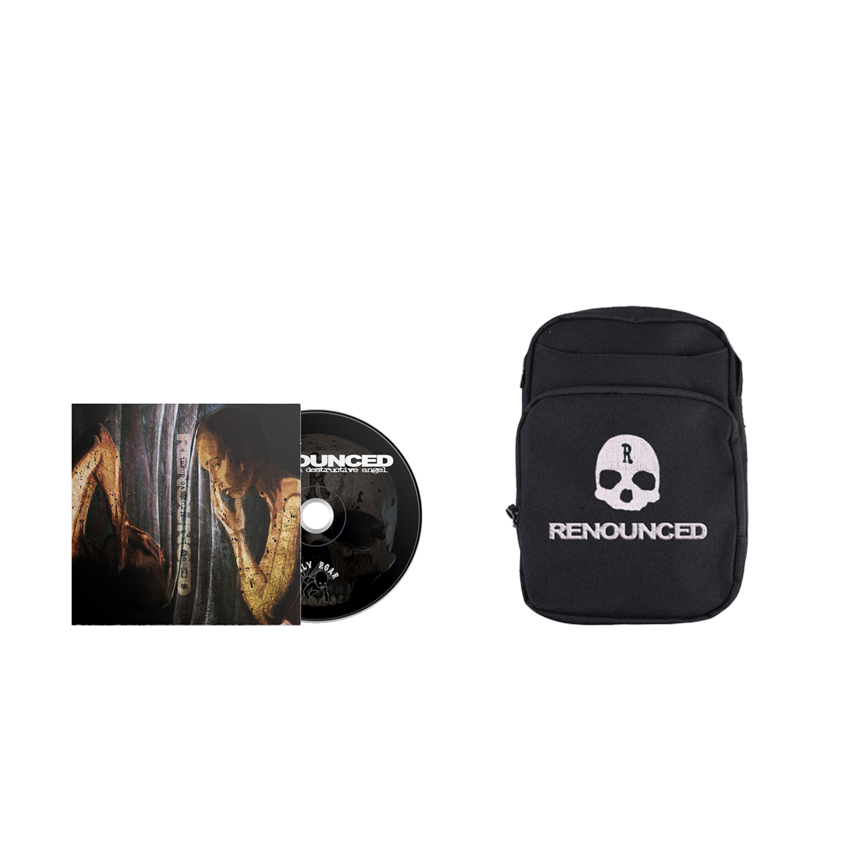 Renounced - Beauty Is A Destructive Angel CD + body bag PREORDER