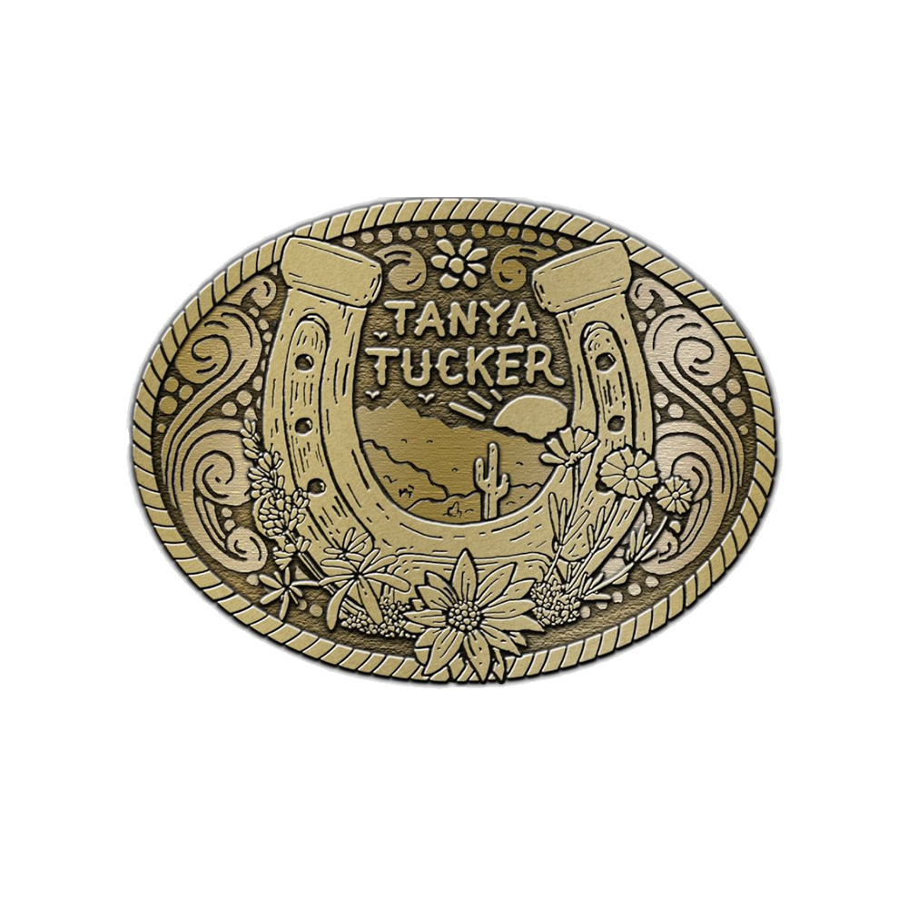 Antique Brass Belt Buckle + Vinyl/CD/Album Download (optional)