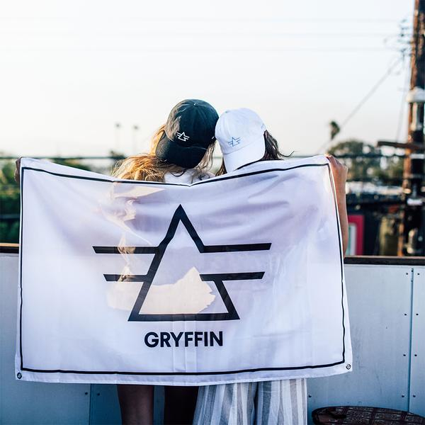 White Gryffin Logo Flag