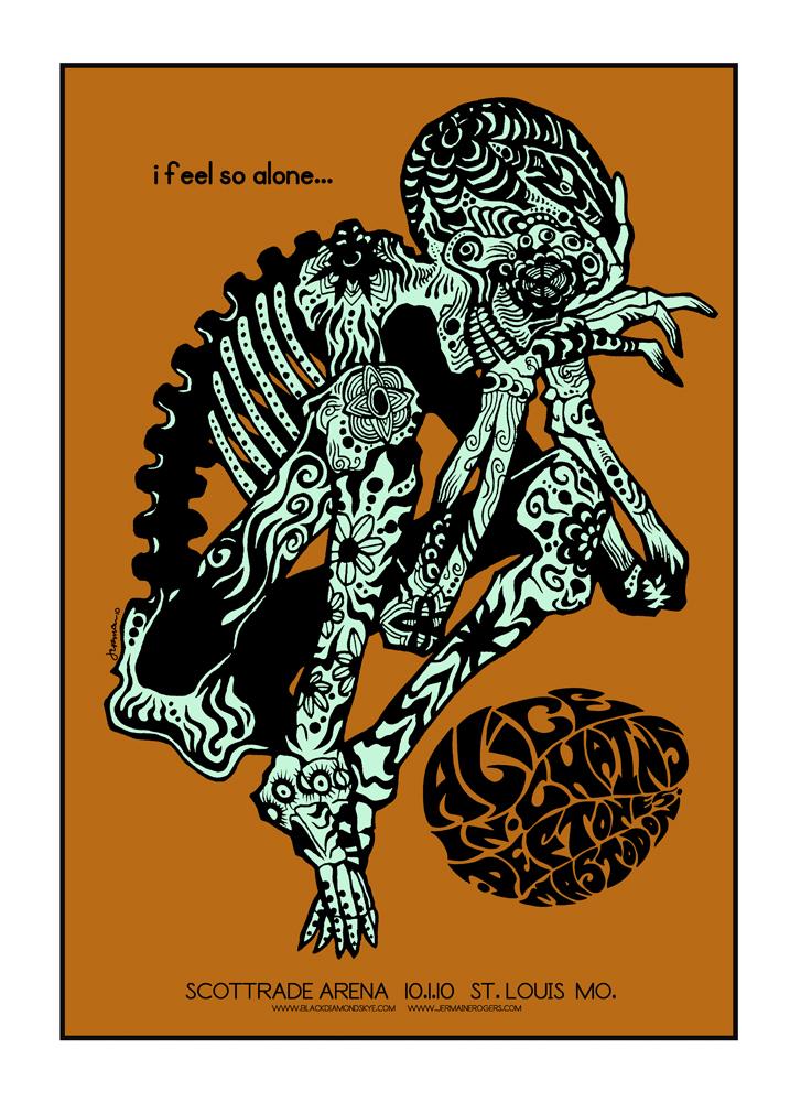 - Alice In Chains, Deftones, MASTODON 'BlackDiamondSkye Tour' Rare GLOW-IN-THE-DARK (ST. LOUIS 2010) -