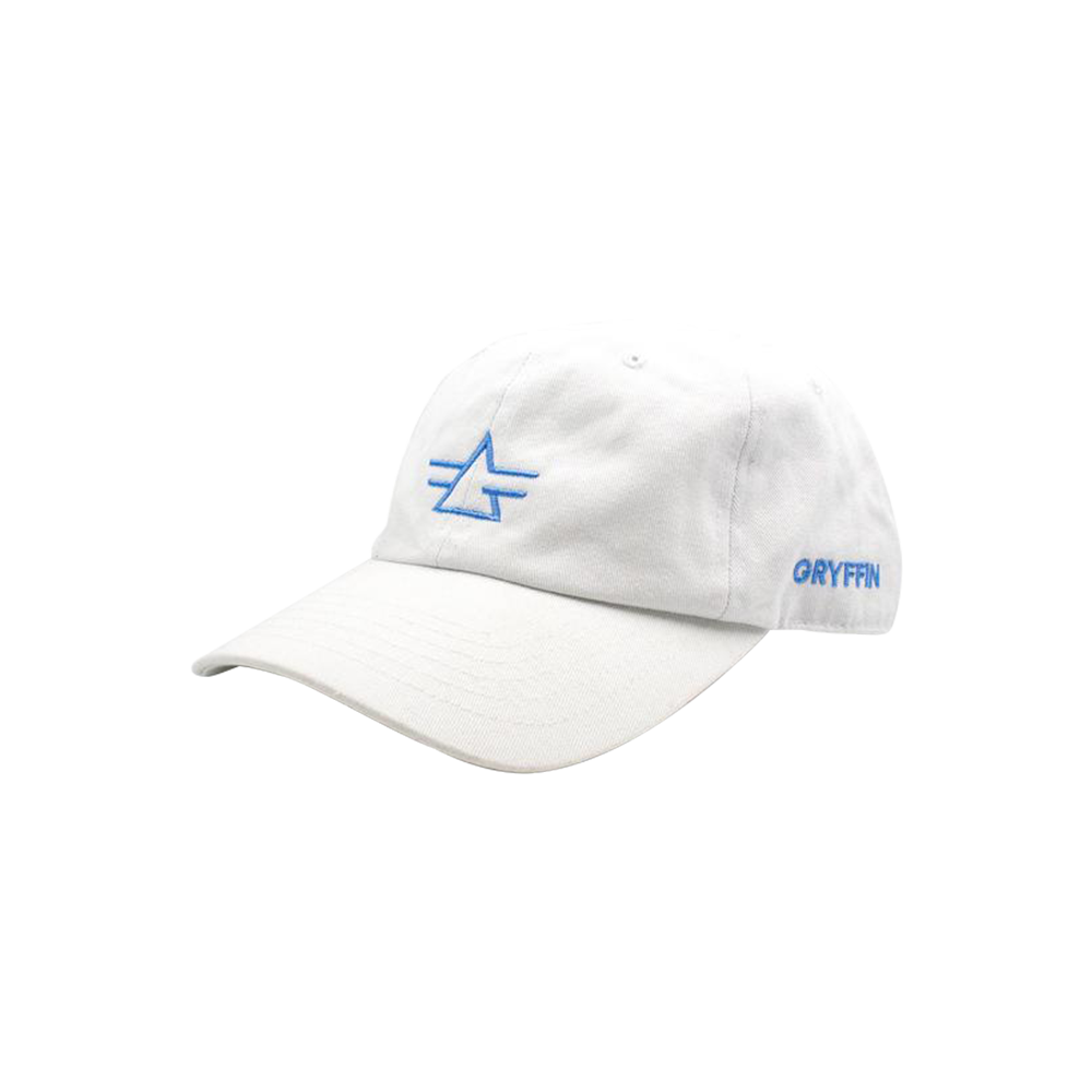 Gryffin Logo White Dad Hat