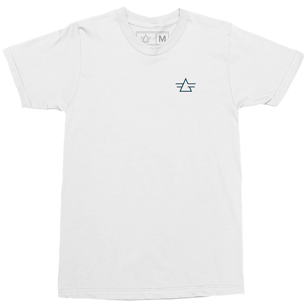 Gryffin Logo Embroidered White Tee