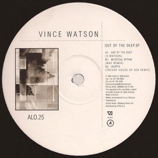 Vince Watson – Out Of The Deep EP (Alola)
