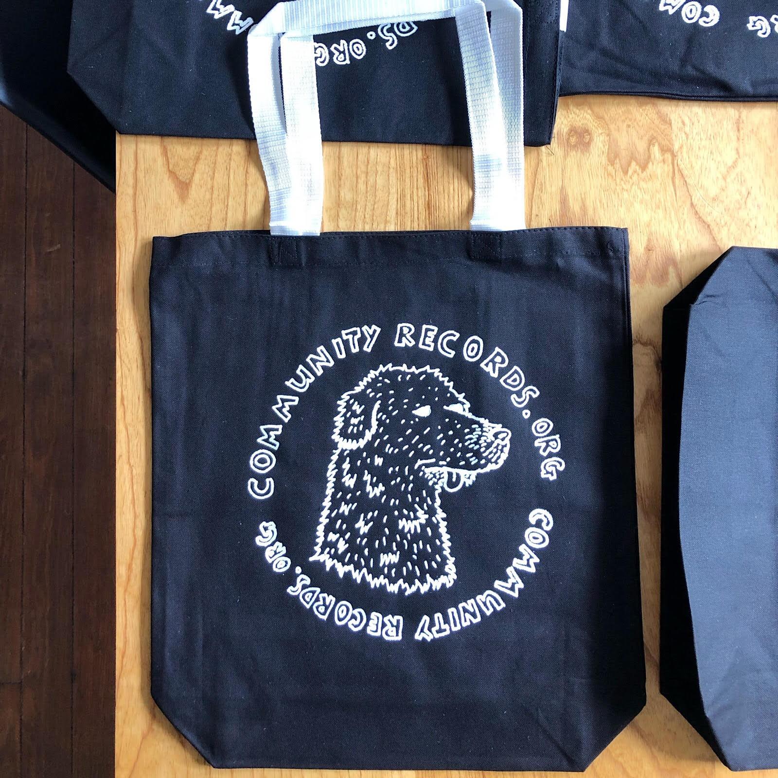 Blue Dog House Tote Bag