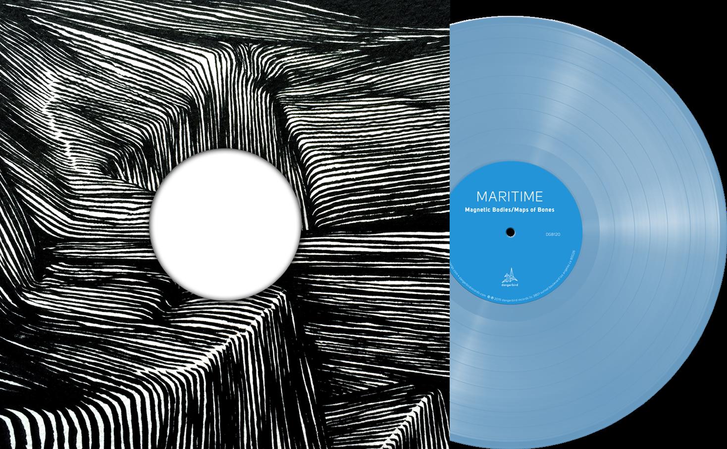 Maritime - Magnetic Bodies/Maps of Bones - Blue Vinyl LP