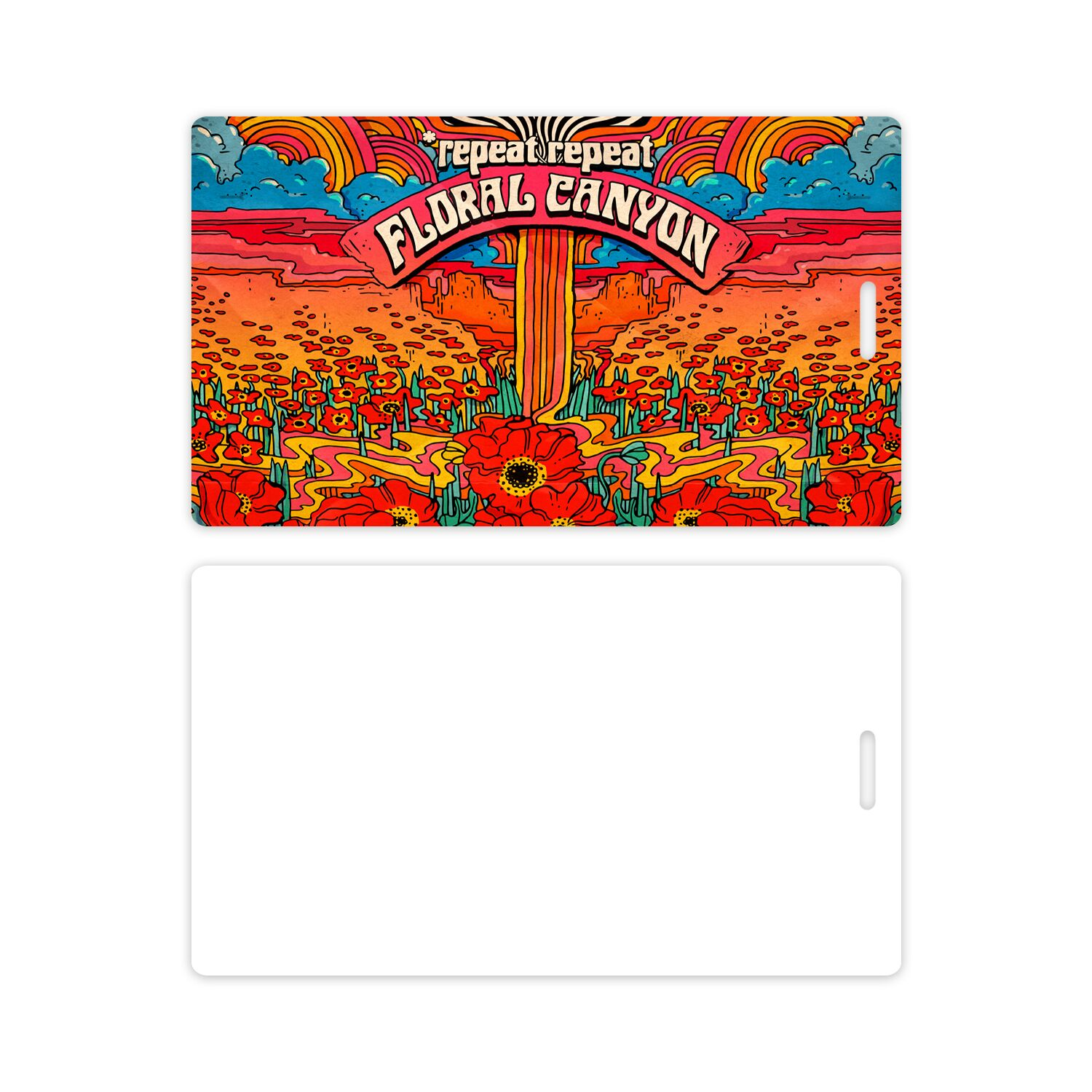 *Repeat Repeat - Floral Canyon - Luggage Tag