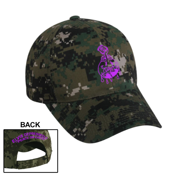 Elvis Depressedly - Peace On Earth Camo Hat