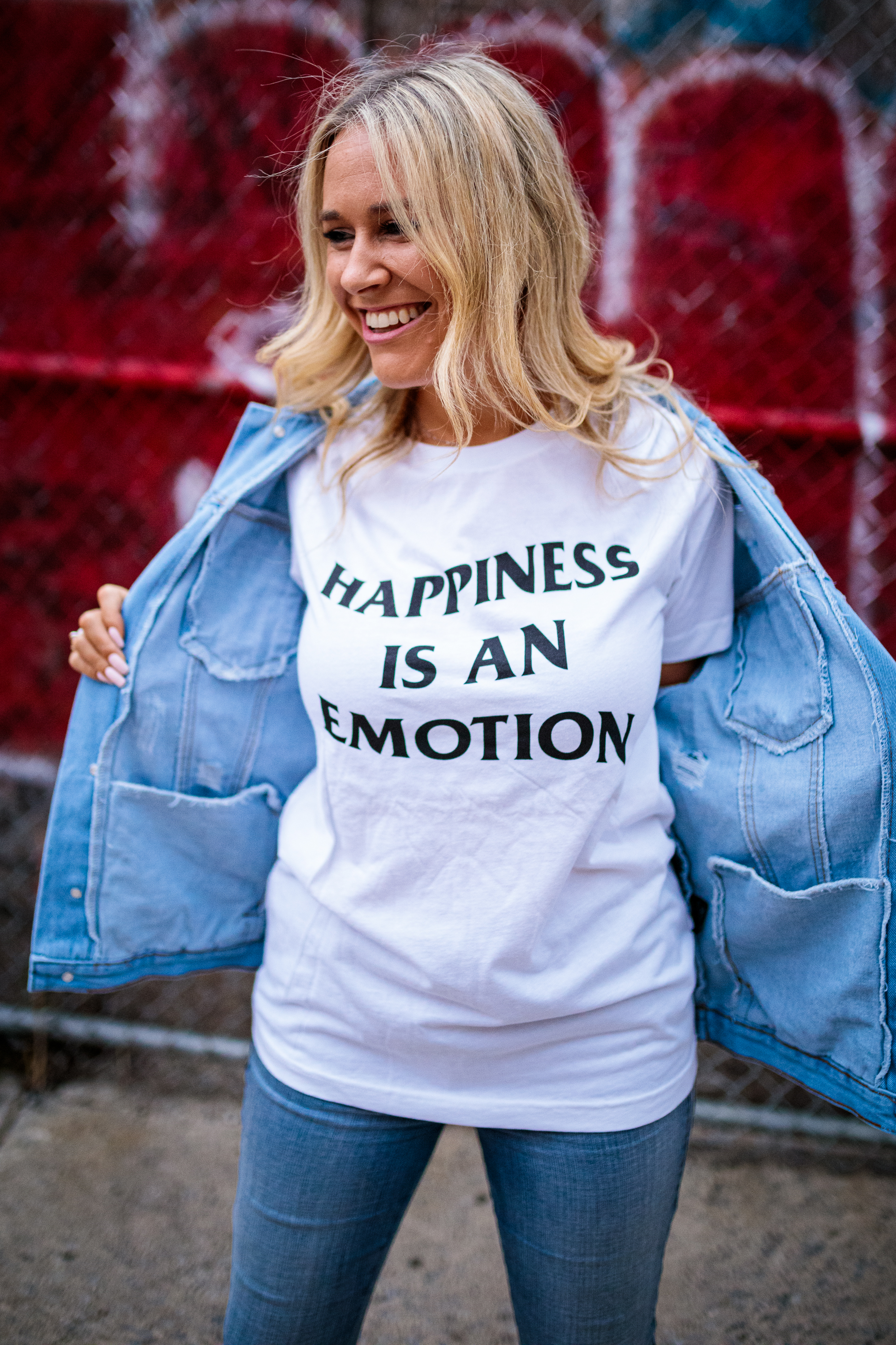 Happiness Is An Emotion Tee (white)