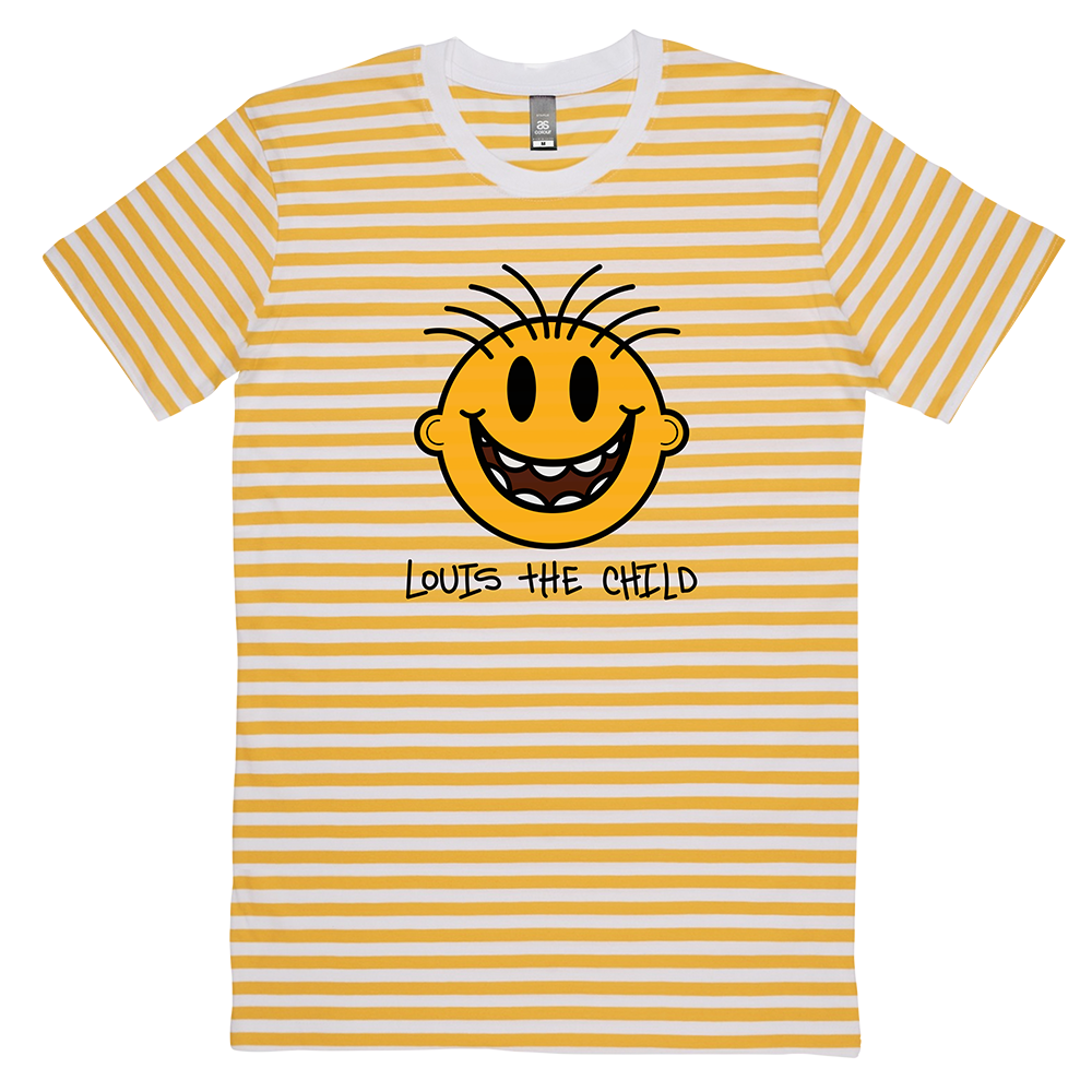 Happy Striped Tee - Yellow