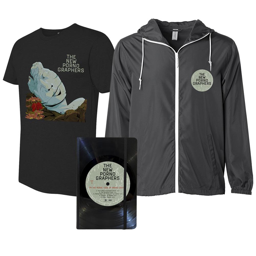 Merch Select Bundle (Windbreaker Jacket + Tee Shirt + Vinyl Notebook)