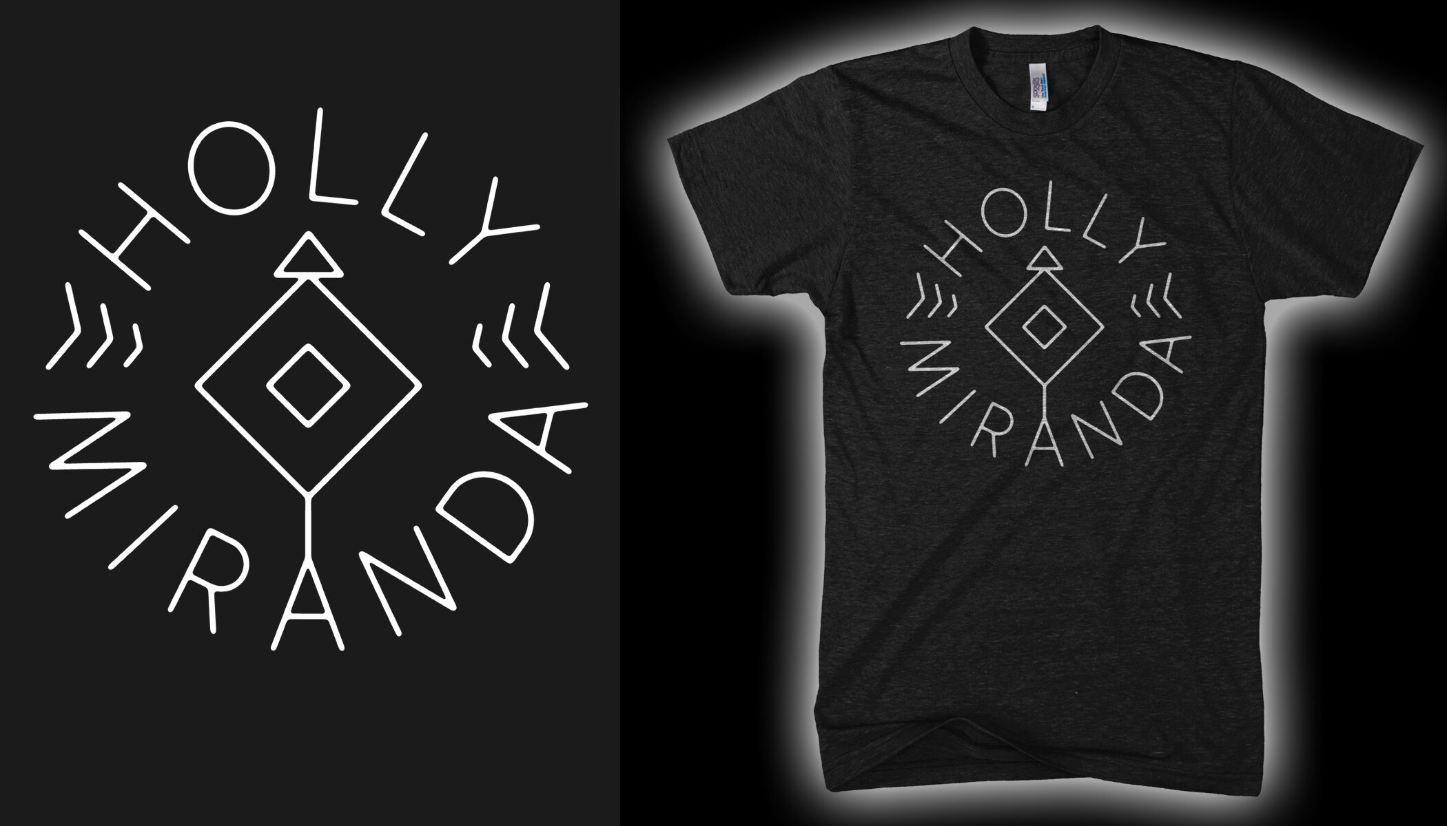 Holly Miranda - Arrow Tri-Black T-Shirt