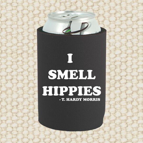 T. Hardy Morris - I Smell Hippies - Black Drink Koozy