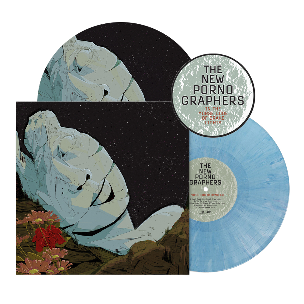 "Signed or Unsigned Exclusive Translucent Blue Marble Vinyl LP + Turntable Mat + Woven Patch (3"")"