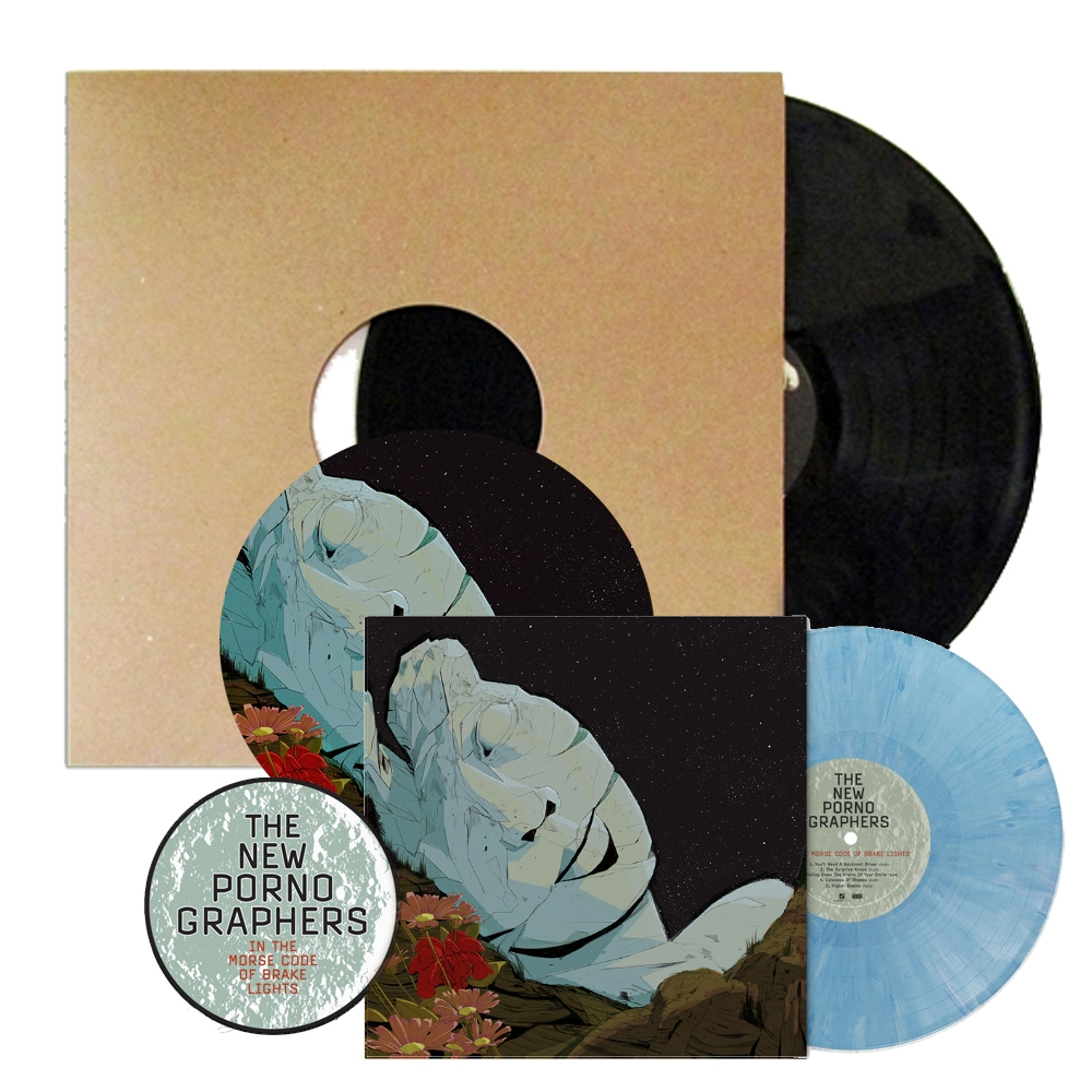 Signed Vinyl Test Pressing + Limited Translucent Blue Marble Vinyl LP + Turntable Mat + Woven Patch