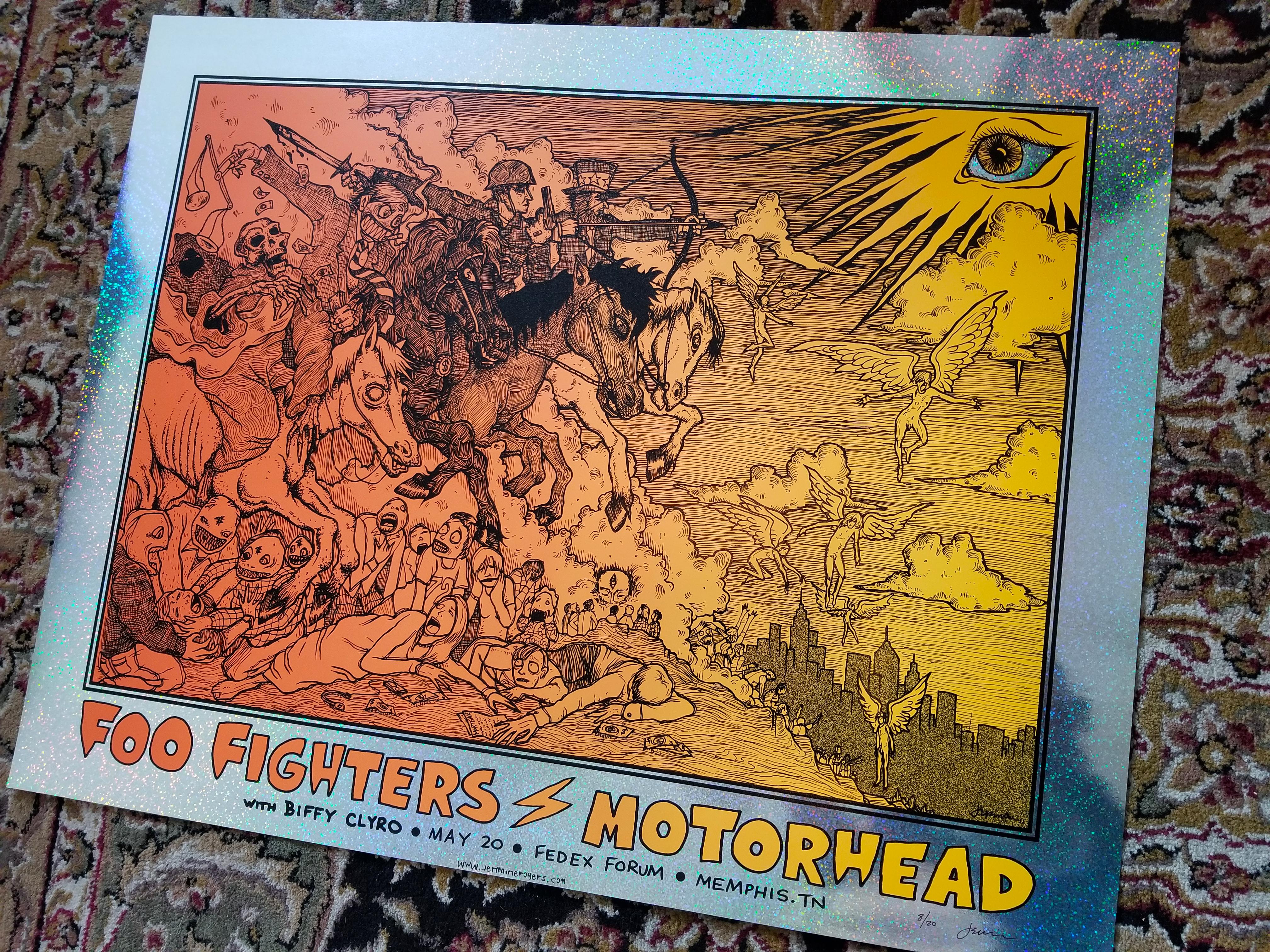 FOO FIGHTERS / MOTORHEAD (HOLOGRAPHIC Sparkle Foil Variant) 2011