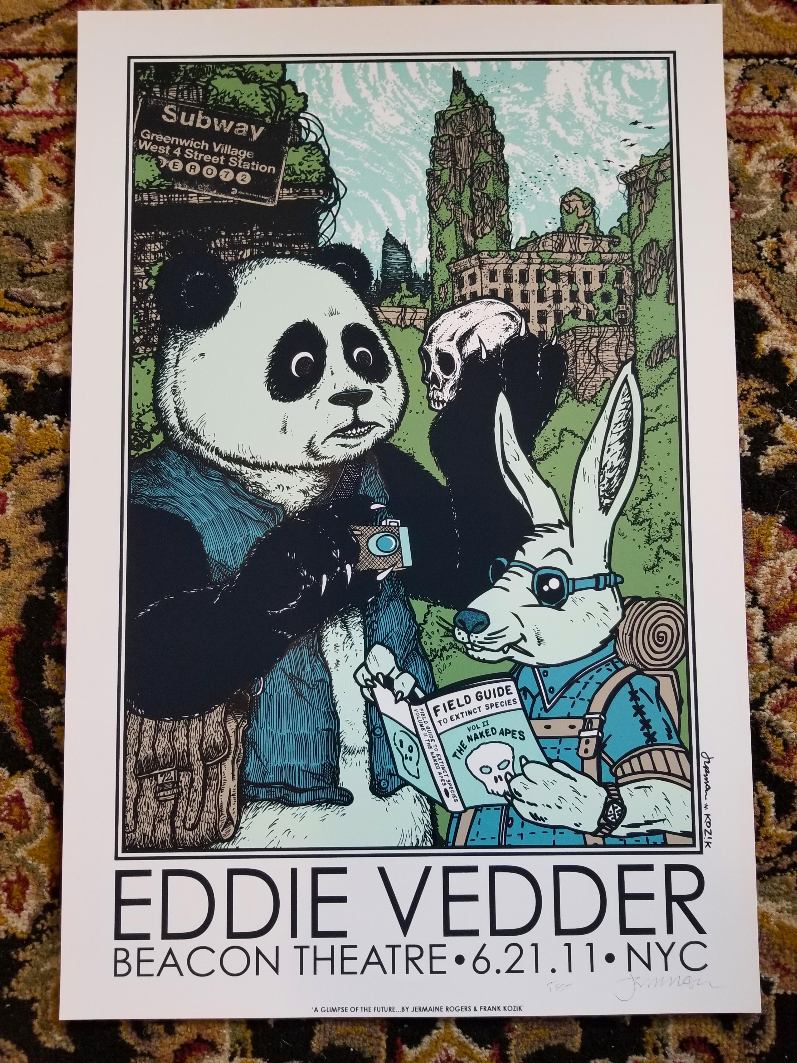 EDDIE VEDDER (2011) NYC (TEST PRINTS)
