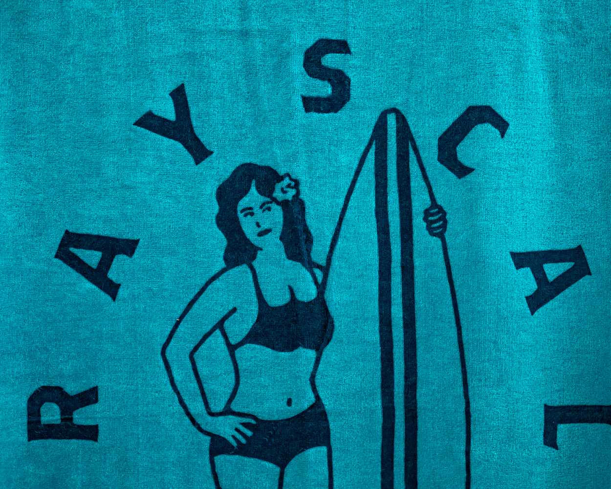 Blue Surfer Beach Towel