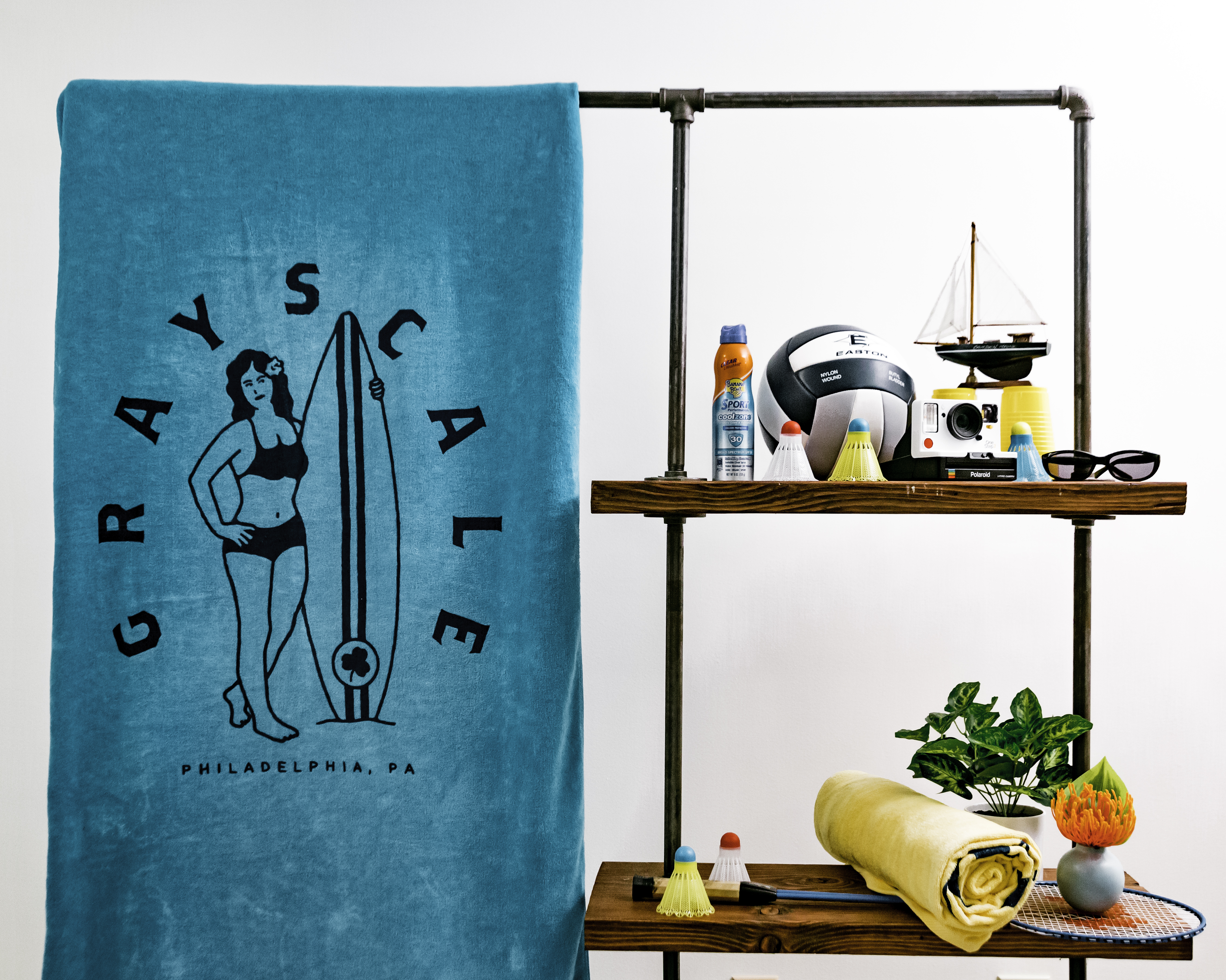 Blue Surfer Beach Towel