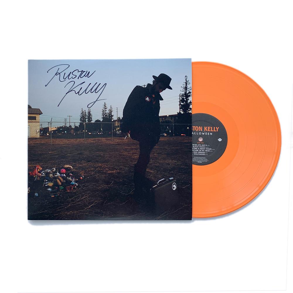 """Signed Exclusive Orange """"Halloween"""" Vinyl LP + Dirt Emo Tee Shirt Bundle"""