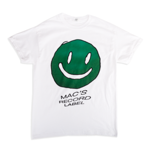 Mac Demarco GREEN SMILEY WHITE T-SHIRT