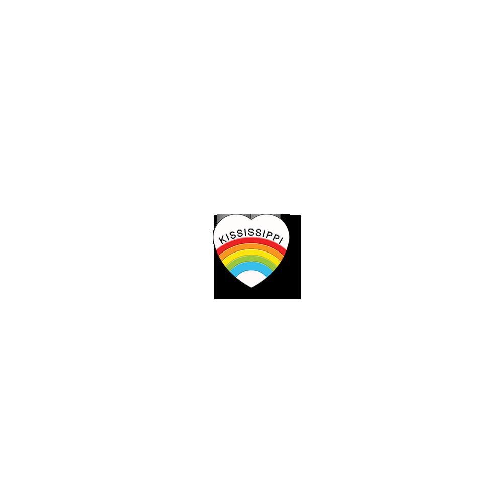 Rainbow Heart Pins
