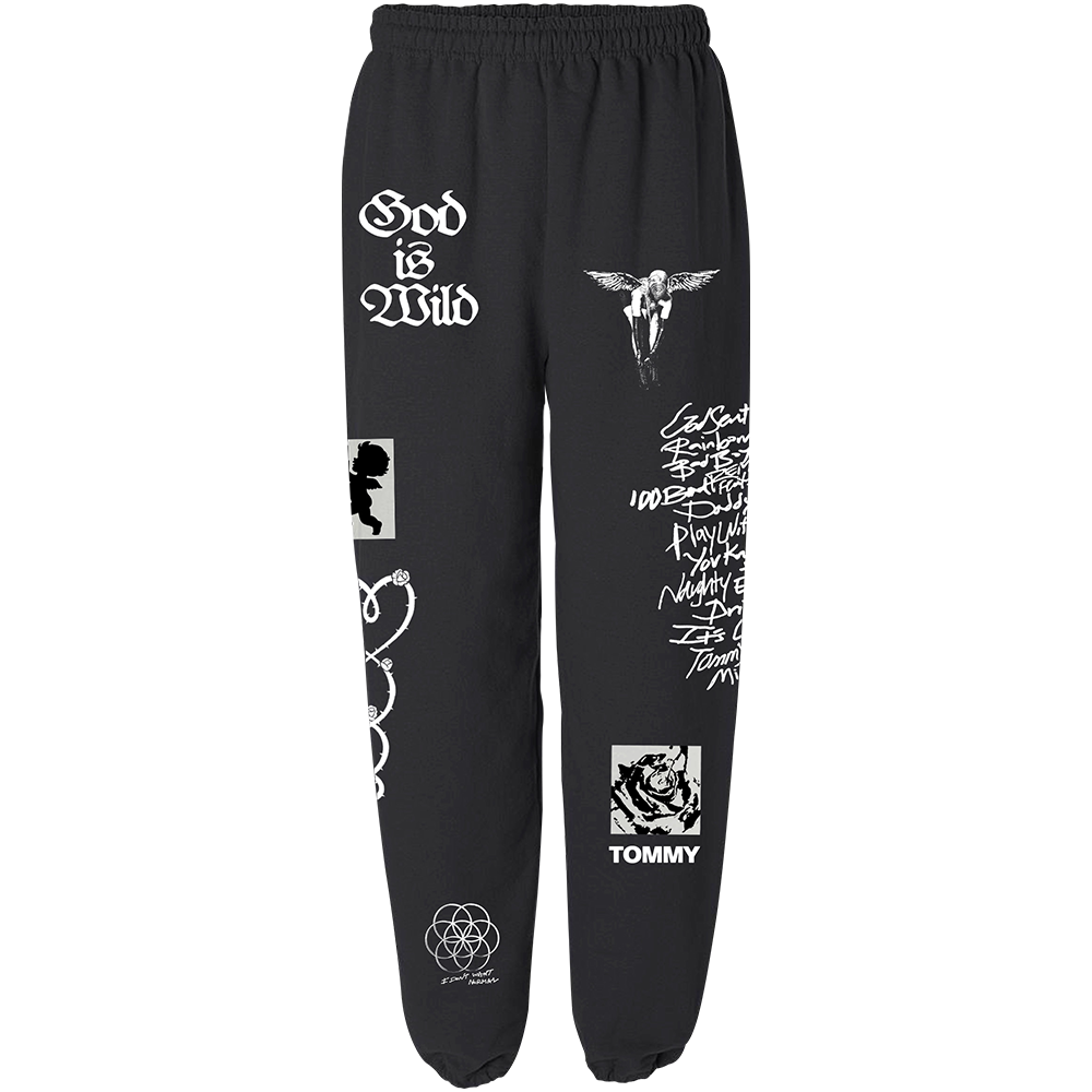 God Is Wild Sweatpants - Black