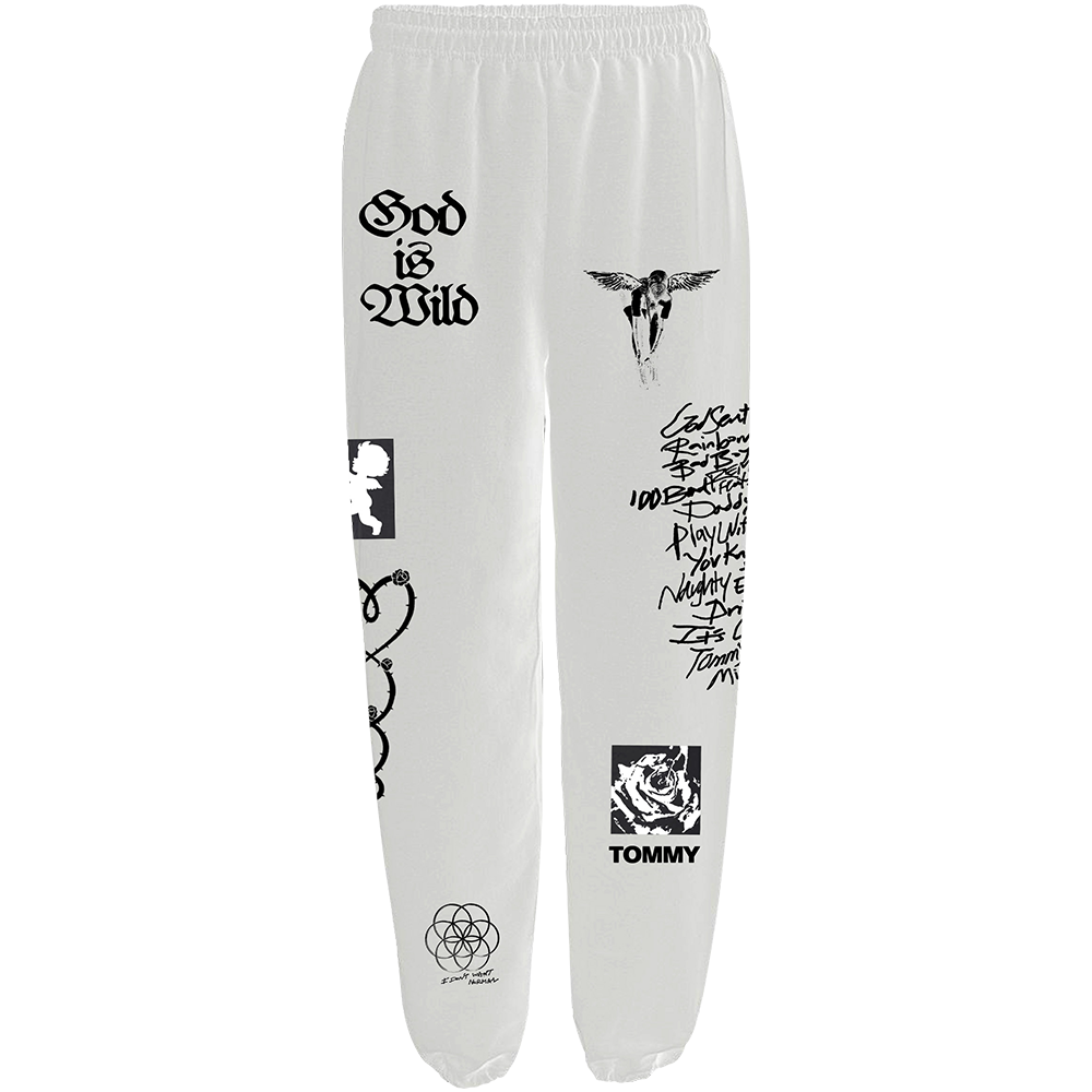 God Is Wild Sweatpants - White