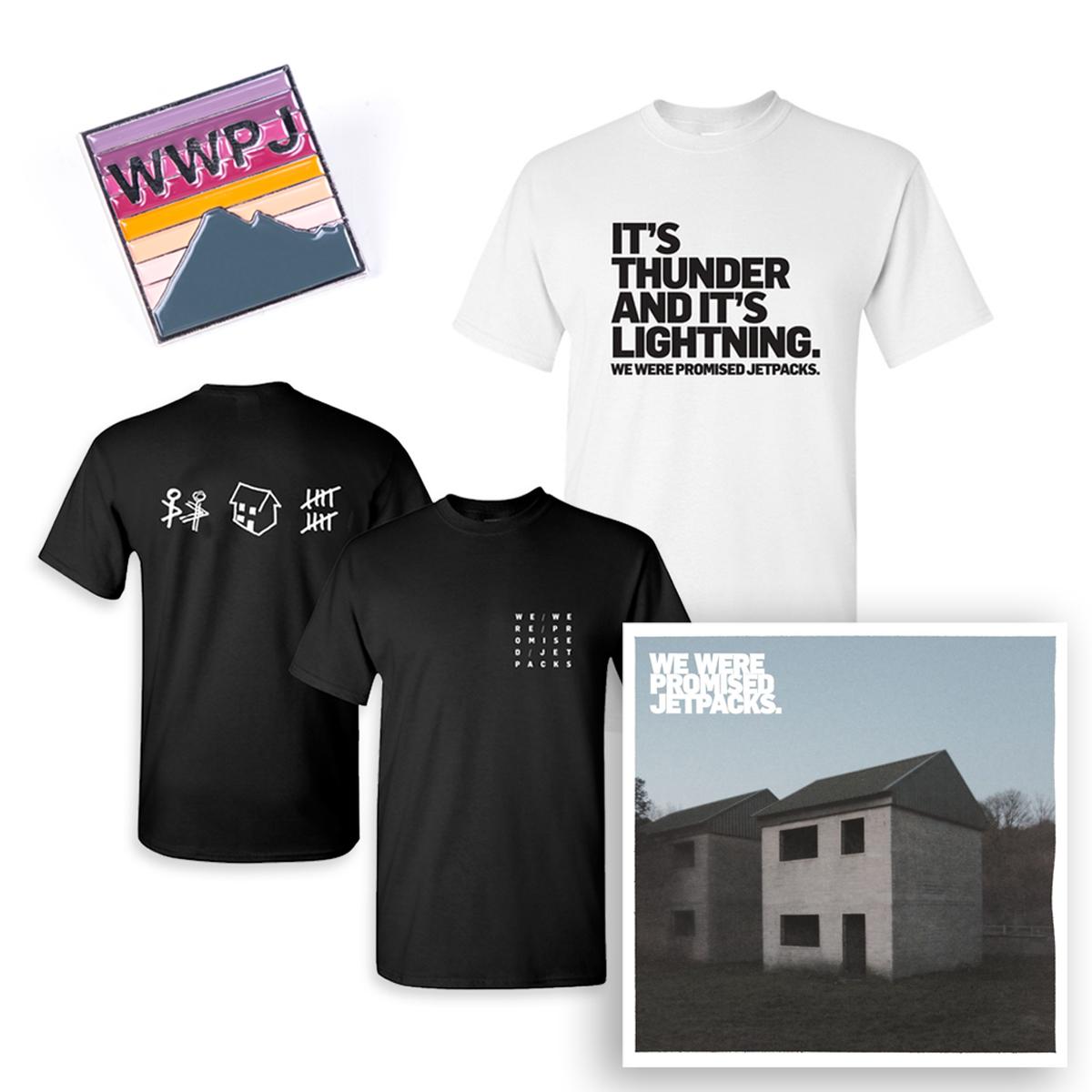 These Four Walls Double LP + Thunder & Lightning T-Shirt + House T-Shirt + Pin