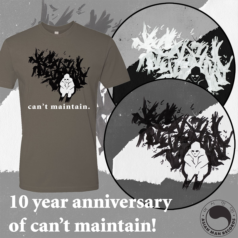 SOLD OUT!  AJJ CAN'T MAINTAIN 10 YEAR ANNIVERSARY PIC DISC!! + BUNDLE!!