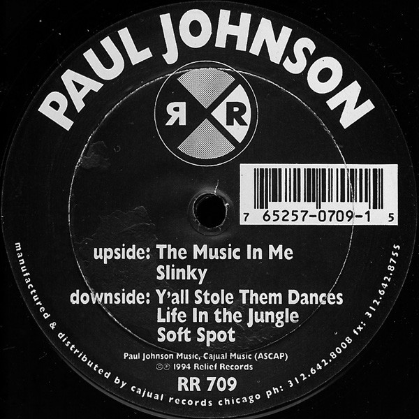 Paul Johnson – The Music In Me (Relief Records)