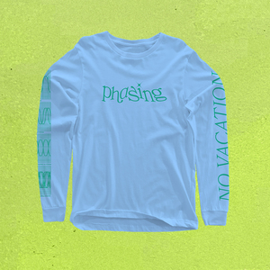 No Vacation - Phasing Longsleeve (Blue)